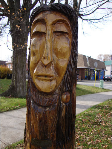 Orangeville tree carving