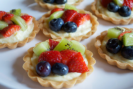 Vanilla Pastry Cream and Fresh Fruit Tartlets by deedlely