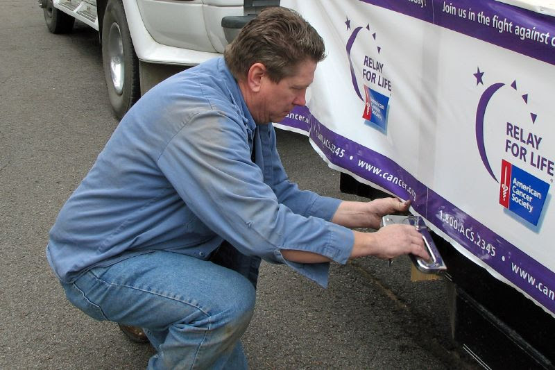 Working on the Relay For Life Float