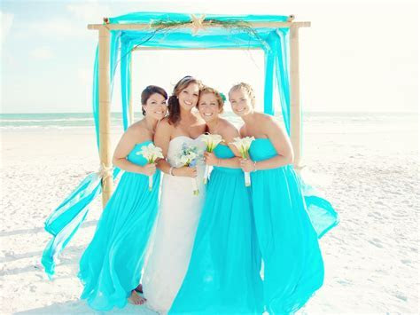 # turquoise # Caribbean blue beach wedding   Beach Wedding