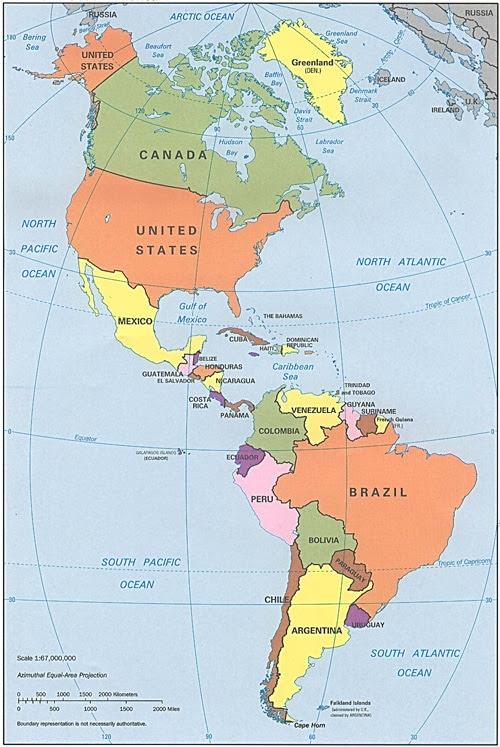 Cartes Et Information Sur Lamérique Amérique Du Nord Du