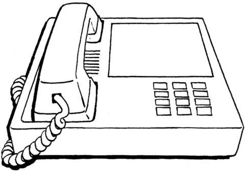 Telefono Da Colorare Per Bambini Acolore