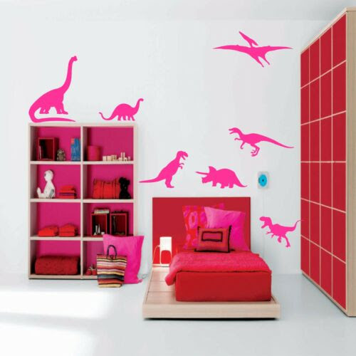 Home Decor Items Dinosaurs Set Of Seven Silhouettes Wall Art Decal Vinyl Stickers Douzenis Gr
