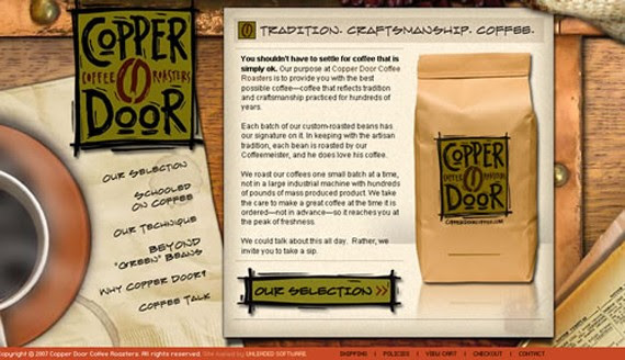 copper door coffee website 30 Sitios web sobre café para inspirarte