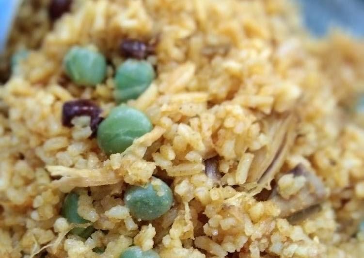 Resep mudah Nasi Minyak Kari Ayam Adabi - Resepi Melayu