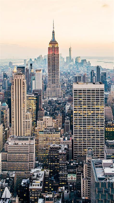 wallpaper  york city skyline cityscape skyscrapers manhattan usa hd world