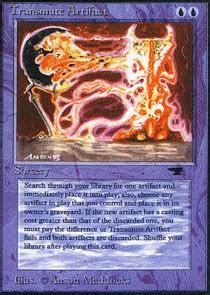 Transmute Artifact   Magic Singles » Old Expansions