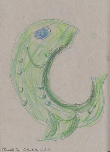 20130223 LSDR_Sketchcrawl_Canal Park_MN Slip fish