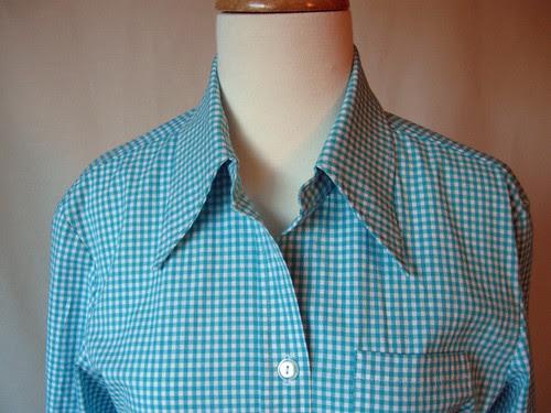 Gingham shirt close front