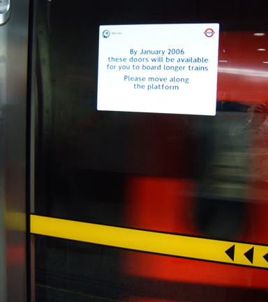 Jubilee Line Extra Carriage Sign