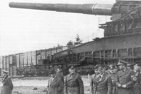 Cañón ferroviario Dora Schwerer Gustav railway gun hitler