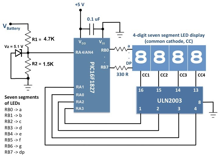 Monitoring Of Real Time Car Battery And Low Voltage Alert System