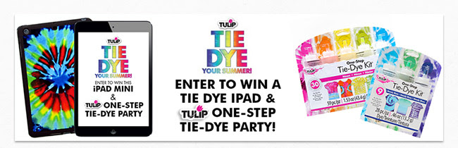 Enter to win a Tie Dye iPad Mini and Tulip One-Step Dye Party