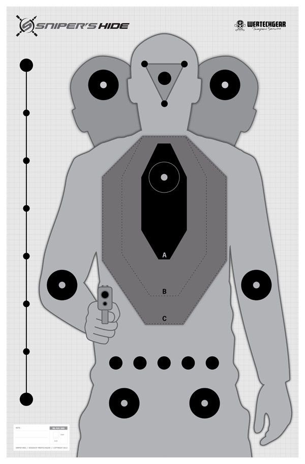 Delicate image in printable sniper targets