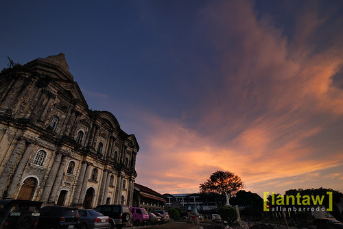 Taal Basilica at Sunset