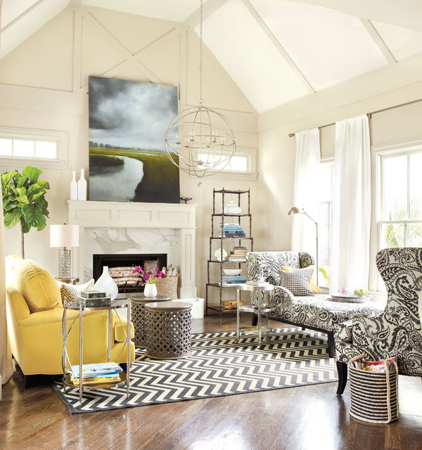 Real Simple Living Room - Contemporary - Living Room ...