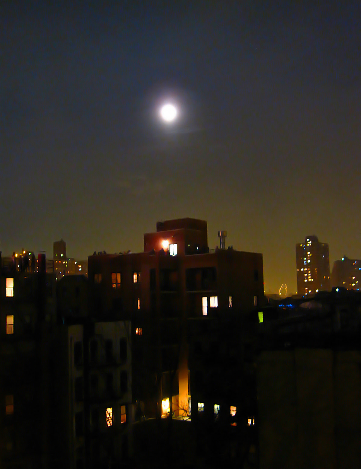 Moon over the LES