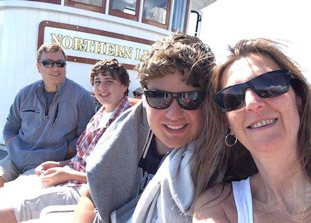 Sailing Lake Champlain on board the Northern Lights