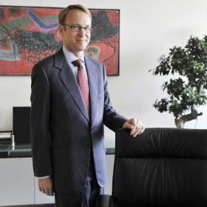 """Weidmann: """"Ok le riforme in Italia ma Padoan sbaglia: non è col debito che si fa più crescita"""""""