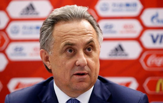 Russian Sports Minister Vitaly Mutko attends a news conference after a meeting of the management board of the 2018 FIFA World Cup Russia local organising committee in Moscow, Russia, July 5, 2016. REUTERS/Sergei Karpukhin