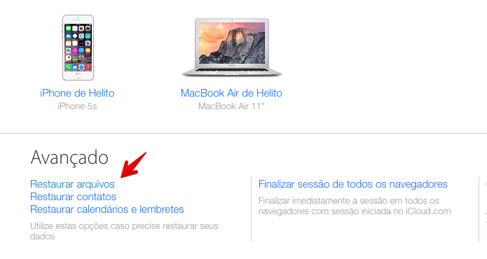 Abra a lixeira do iCloud Drive (Foto: Reprodução/Helito Bijora)