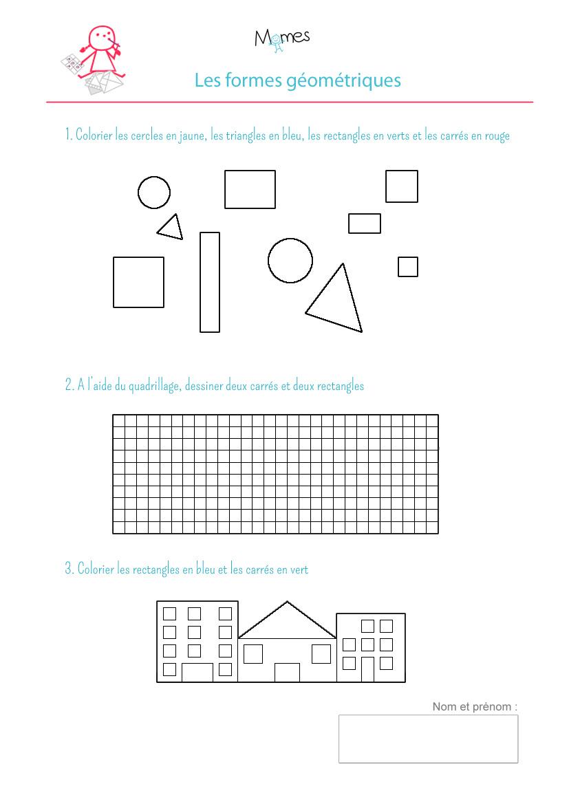 Coloriage Formes Géométriques Exercice Momesnet