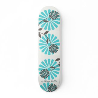 Big Flowers Skateboard skateboard