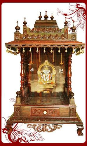 Pooja Room Pooja Room Decorationdecor With Wooden Accessories