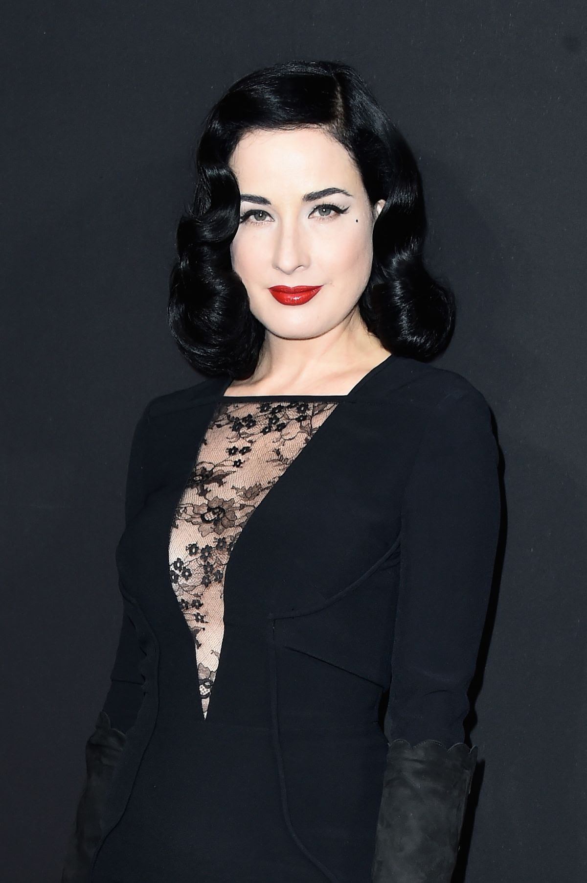 DITA VON TEESE at Elie Saab Fashion Show in Paris