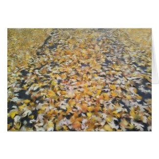 Noteworthy Autumn Leaves Stationery Note Card