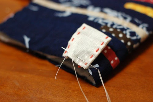 How to make a string quilt pouch 12