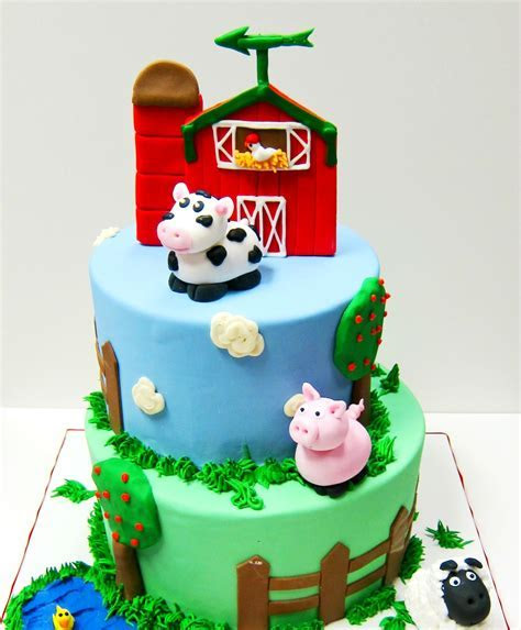 Barn Themed Cake   Scrumptions