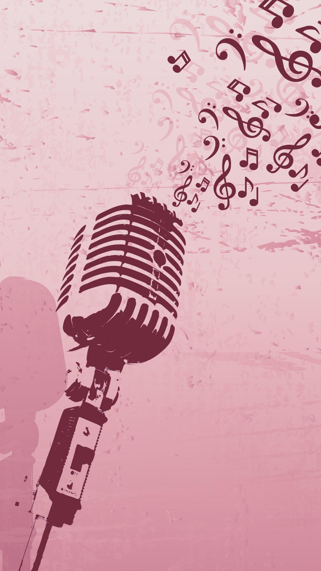 Free Hd Retro Microphone Phone Wallpaper4457
