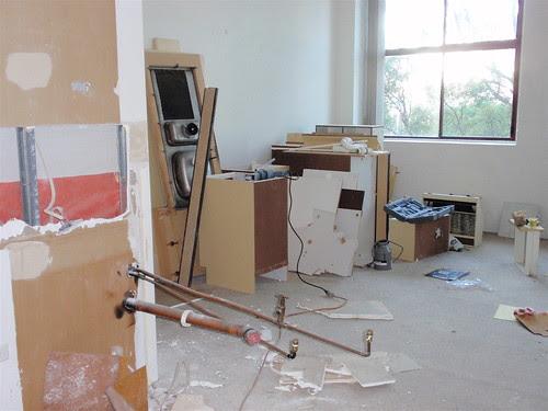 demolition, living room