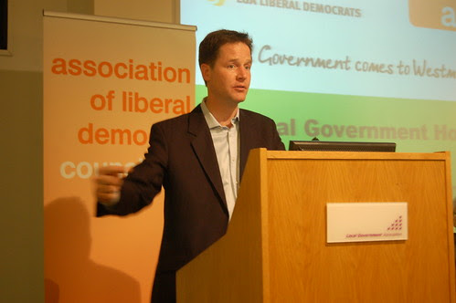 Nick Clegg Lib Dem local government conference June 10 13
