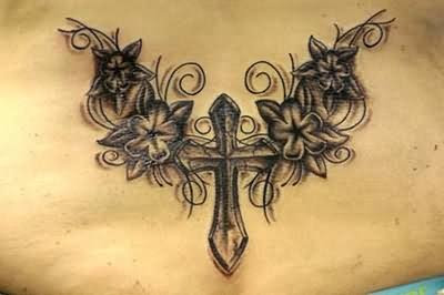 Tattoo Angel Wing Cross