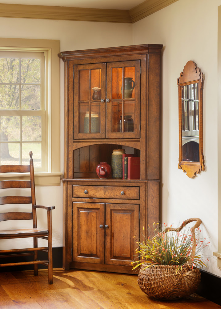 Shaker Corner China Cabinet - Town & Country Furniture