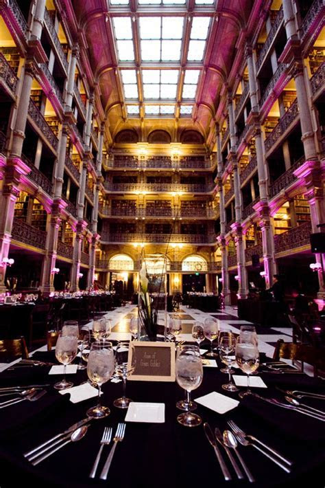 George Peabody Library Wedding Baltimore MD Historic