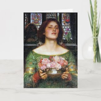 John Waterhouse - Gather Ye Rosebuds card