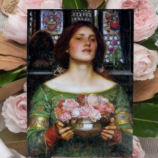John Waterhouse - Gather Ye Rosebuds card