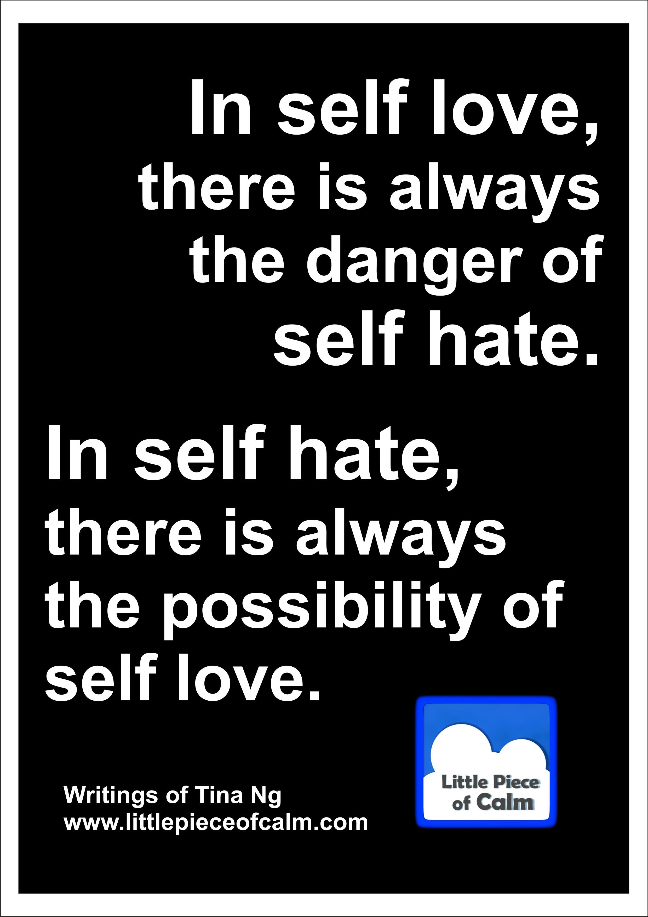 LPC self love and self hate
