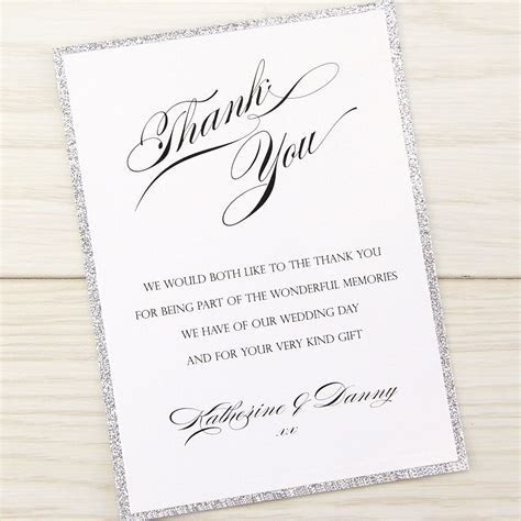 Oscar Thank you Card   Pure Invitation Wedding Invites