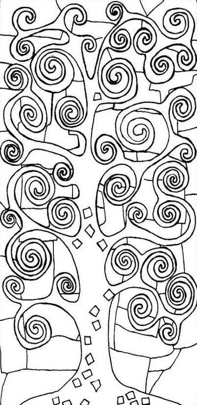 Disegni Da Colorare Per Adulti Gustav Klimt Stampabile Gratuito