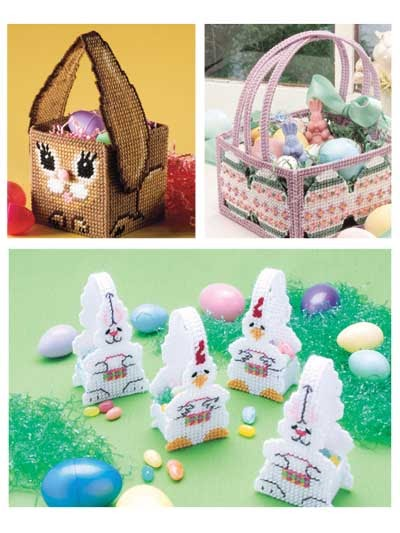 easter baskets in plastic canvas patterns