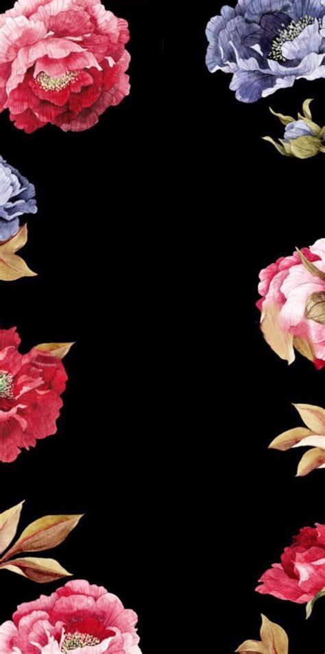 beautiful flower  black background iphone wallpaper