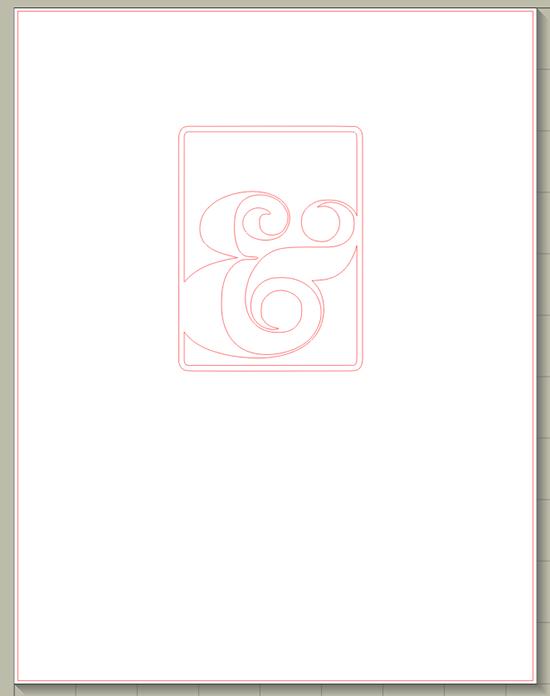 single ampersand frame 550px