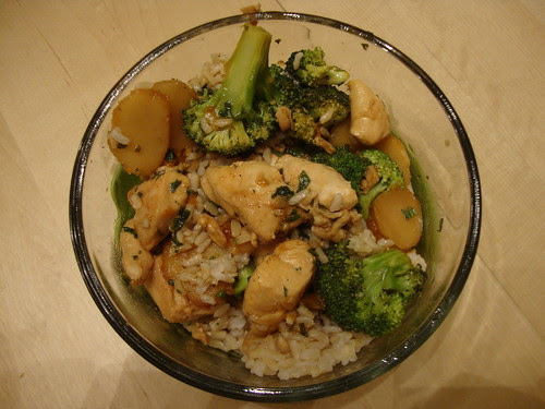 Sweet Chicken and Broccoli stirfry from Rocco DiSpirito's Now Eat This Diet