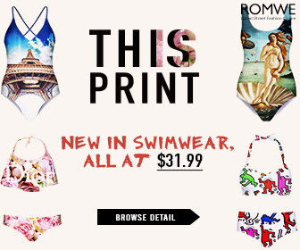 Romwe New Design This Print Swimwear