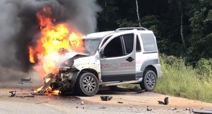Acidente com vítima fatal na BA 001 em Porto Seguro
