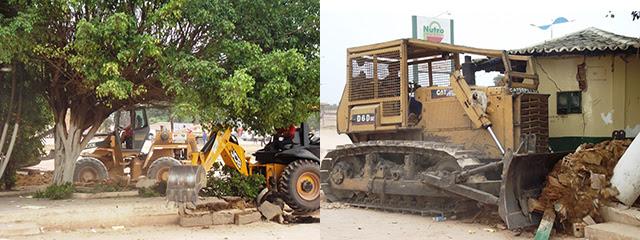 Destruição da Praça Pública ordenada pela prefeitura e com anuência da Câmara de Vereadores